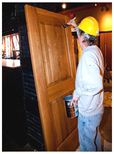 Staining Door